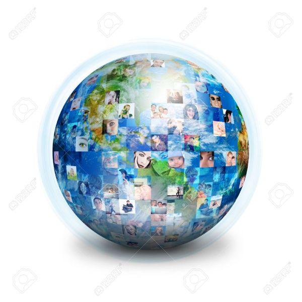 16933470-un-globo-c3a8-isolato-su-uno-sfondo-bianco-con-molte-persone-diverse